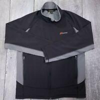 Cloudveil Lightweight Windbreaker Jacket Mens Medium Gray Full Zip Stretch Coat