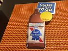 Pabst #P-1567 COLD PABST TO GO sticker wall sign QUART bottle 1974 VINTAGE NOS C