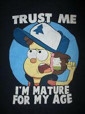 GRAVITY FALLS T SHIRT Trust Me I'm Mature For My Age Mason Dipper Pines Adult XL