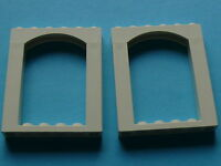Lego 2 arches blanches set 6464 6435 / 2 white brick arch 6 x 6