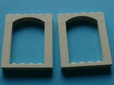 Lego 2 arches blanches set 6464 6435 / 2 white brick arch 6 x 6
