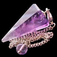 Amethyst Point Crystal Quartz Dowsing Pendulum Dowser Scrying Radiesthesia