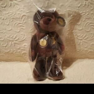 """SACAGAWEA GOLDEN DOLLAR BEAR PLUSH 2000 AUTHENTIC MINT BEAR WITH TAG 10"""" unopen"""