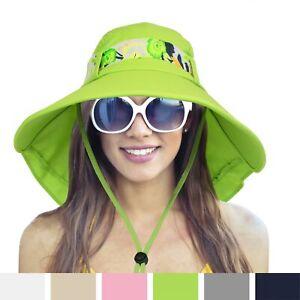 Womens Ladies Summer Outdoor Garden Beach Hat Cap Wide Brim Sun UV Protection