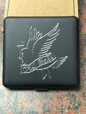 LIL PEEP Cigarette Case Black Box rapper rap music Cry Baby bird logo engraved