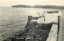 Garrison MN~Stone Wall~The Concourse~Fish Stories From Kinney Lake~1946 RPPC