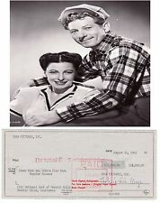 SYLVIA FINE KAYE LYRICIST WIFE DANNY  KAYE  SIGNED BANK CHEQUE / CHECK 1962 RARE