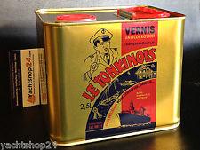 (23,16€/L) Le Tonkinois Bootslack  2,5L Yachtlack Klarlack Parkettlack Bio-Lack