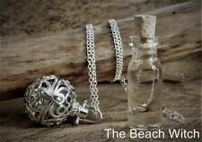 POTION LOCKET Amulet, Pendant & Silver Chain w/ Potion ~ Wicca Witchcraft Pagan