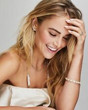 New Kendra Scott Monique Lariat Necklace In Ivory Pearl with Gift Box