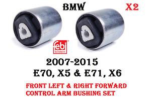 For BMW E70 E71 Rear Driver Left Upper Rearward Control Arm /& Bushing Febi