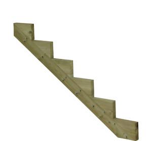 Treppenwange Treppenwangen 6 Stufen Holz Treppe kdi Garten f.Terrassen Treppen