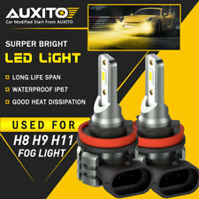 2x Auxito H8 H11 H16 Led Fog Light Drl Bulb 4000lm Golden Yellow High Power L3a