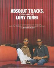 """(HFBK25) POSTER/ADVERT 13X11"""" ABSOLUT TRACKS BY LUNY TUNES"""