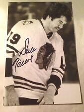 Dale Tallon SIGNED 4x6 photo CHICAGO BLACKHAWKS #3