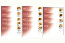 Australian Gold Medallists 2008 Olympic Winners Set of 14 First Day Covers FDC