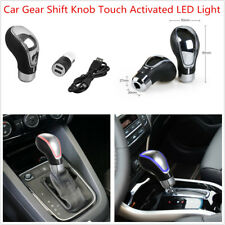 Car SUV Gear Shift Knob Touch Activated Sensor LED Light 7 Colors RGB USB Charge