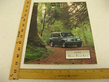 1996 96 Chevrolet Chevy Geo Tracker Sales Brochure Literature Catalog 22 Pages