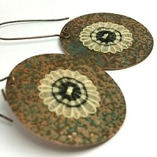 Crin Chilean Crafted earrings Copper from the village of Rari 4 cms