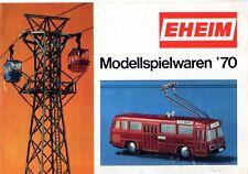 catalogo EHEIM Modellspielwaren 1970 Trolley-Bus Lorenseilbahn Pumpen    D    aa