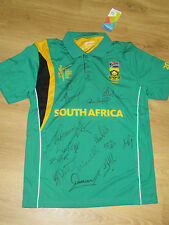 South Africa 2015 ICC World Cup team signed shirt + COA & Photo proof