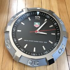 RARE Tag Heuer Dealer Advertisement Showroom Wall Clock Quiet Sweep Sweeping