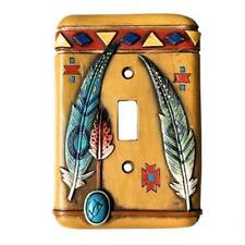 Western Lodge Cabin Decor Feather Light Switch Cover Plate