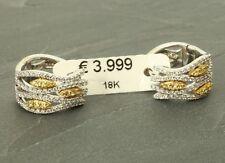 Ohrringe, Diamant, insg. 0,75 ct, 18 Karat Gold! Creole Gutachten, eVp 3.999,- €