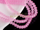 100pcs 4mm Faceted Rondelle Loose Spacer Crystal Glass Beads Charms Pink