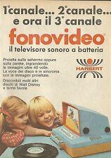 X4662 Fonovideo il televisore sonoro a batteria - HARBERT - Pubblicità 1975