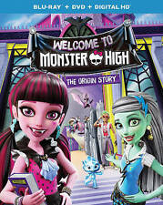 Monster High: Welcome to Monster High (Blu-ray/DVD, 2016, 2-Disc Set) Brand New