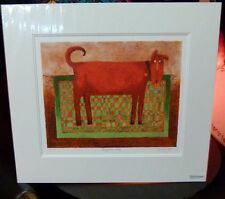 "Toni Goffe Signed ""Rugrover Red"" Limited Edition Artist Proof Giclee-Hand Signed"