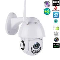 1080P WIFI IP Camera WHITE Wireless Outdoor CCTV HD Home Security IR Camera