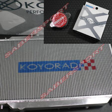 Koyo Racing 53mm Core Aluminum Radiator w/ Cap for 1986-1992 Toyota Supra M/T