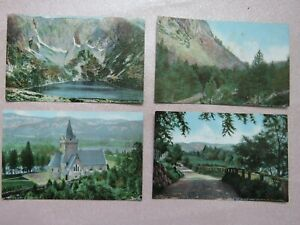 4 Vintage c1900s Ballater Lochnagar Postcards - Unused