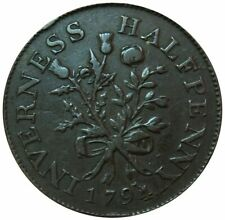1794 GREAT BRITAIN INVERNESS MACKINTOSH 1/2 PENNY ROSE & THISTLE TOKEN D&H 2