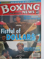 Boxing News  24 May 1996 Lewis Naz Calzaghe Schwer Jordan Tanveer Hamed Temple