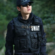 Men Police Officer SWAT Vest Hold Team Tactical Assault Halloween Costume Prop