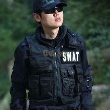 Men Police Officer SWAT Vest Hold Team Tactical Assault Halloween Costume Prop