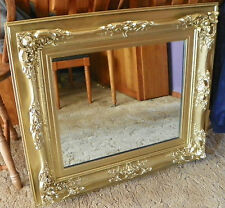 Gold Carved Rectangle Mirror Wall Mirror  (MR44)