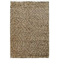 Geometric Moroccan Shaggy Area Rug Plush Natural Color Hand-Knotted 6'x9' Carpet