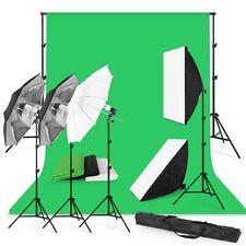 Professional Photography Studio Backdrop Softbox Umbrella Lighting Kit +Stand EW