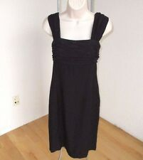 Liz Claiborne Dress Black Sheer Pleat Top  Lined  Size 10  NWOT #L22