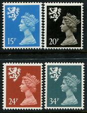 GREAT BRITAIN - Scotland - 1989 'QEII MACHINS' Set of 4 MNH [B4001]