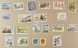 Channel Islands - Nice lot of 21 different stamps, VF.