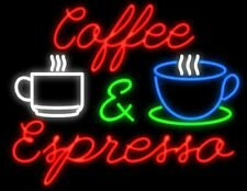 "New Coffee Espresso Cafe Beer Light Lamp Neon Sign 32"" Poster Decor Artwork"
