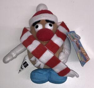 "Mr Potato Head Vintage 1999 6"" Plush Soft Playskool Hasbro Rare Winter Version"