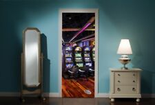 Door Mural Casino One Arm Bandit Arcade View Wall Stickers Decal Wallpaper 271