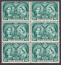 CANADA 1897 SCOTT 52 - QUEEN VICTORIA JUBILEE ISSUE 2¢ GREEN - BK6  - MNH **