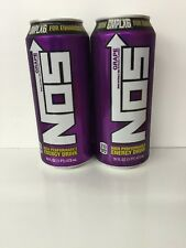 Nos Energy Drink.2(TWO) Cans Grape.High Performance Enhanced Energy Drink.CMPLX6